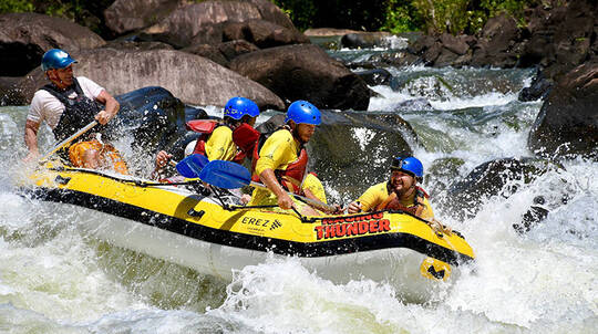 White Water Rafting on the Tully River with Dinner- 12 Hours