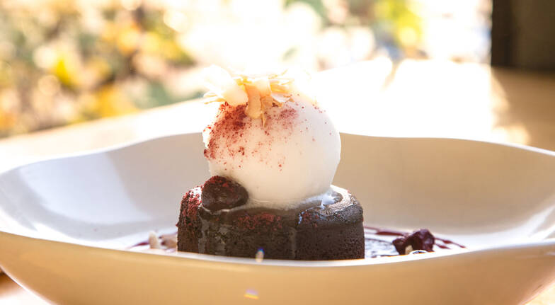 Indulgent 3 Course Lunch in the Gardens with Wine - For 2