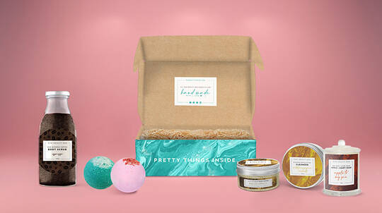 Self Care Soak Box with Cleanser, Body Scrub and More
