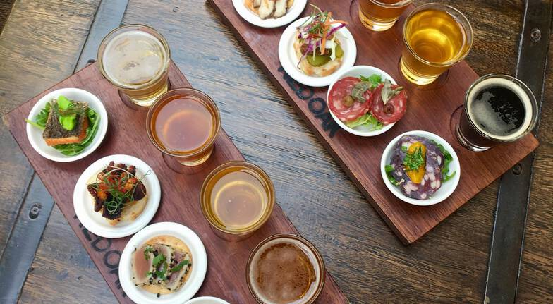 Beer and Canapés Tasting Board - For 2