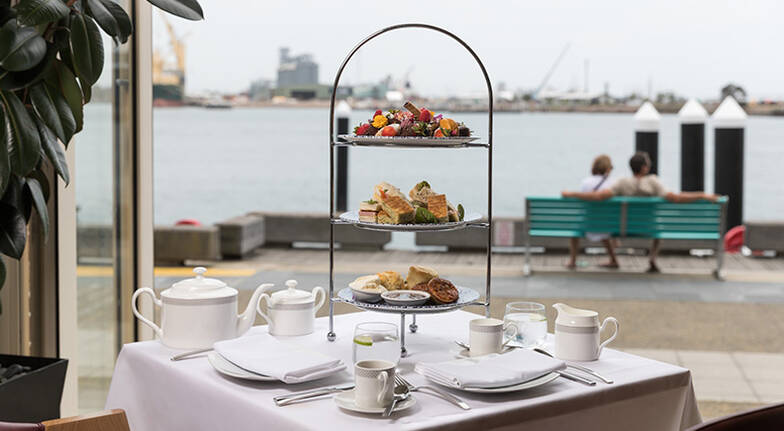 Harbourside High Tea with Sparkling Wine and Valet Parking