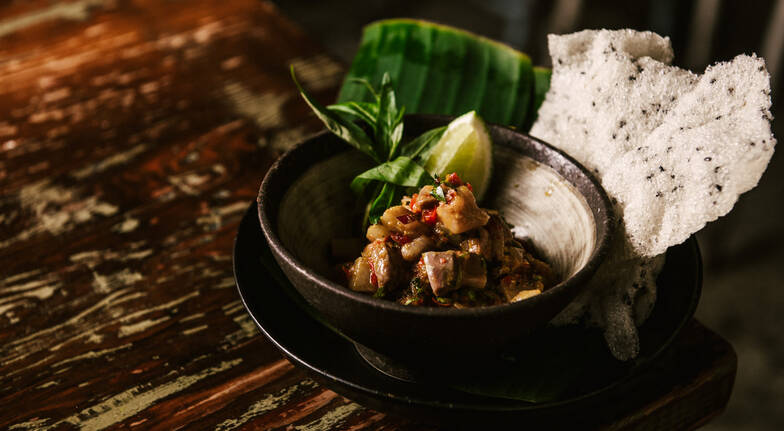 5 Course Asian Lunch with Cocktail and Dessert - For 2