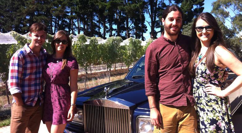 Rolls Royce Winery Tour around Hobart