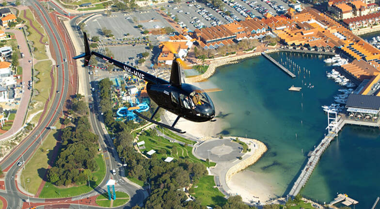 Hillarys to Scarborough Private Helicopter Flight-15 Minutes