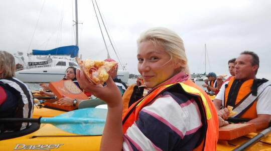 Pizza and Paddle Guided Kayak Tour