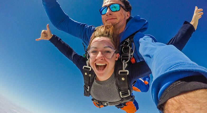 Tandem Skydive over Lake Alexandrina  12000ft