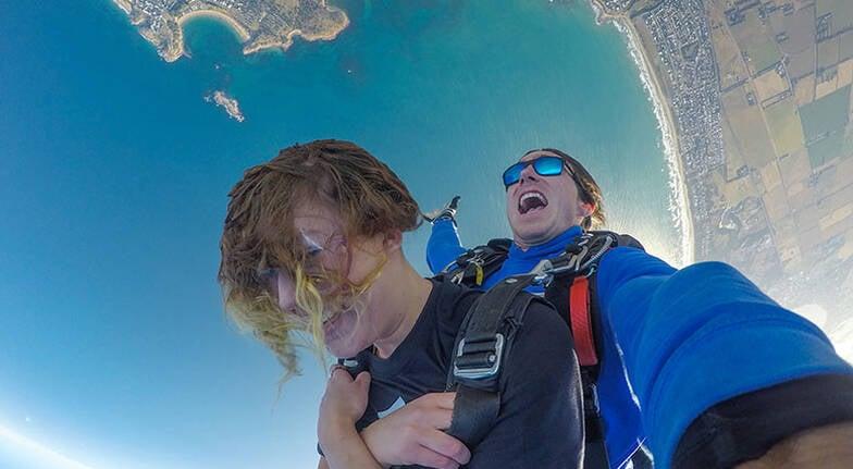 Tandem Skydive over Basham Beach  12000ft