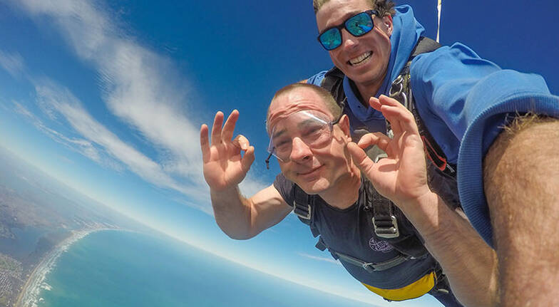 Tandem Skydive over Basham Beach  12000ft