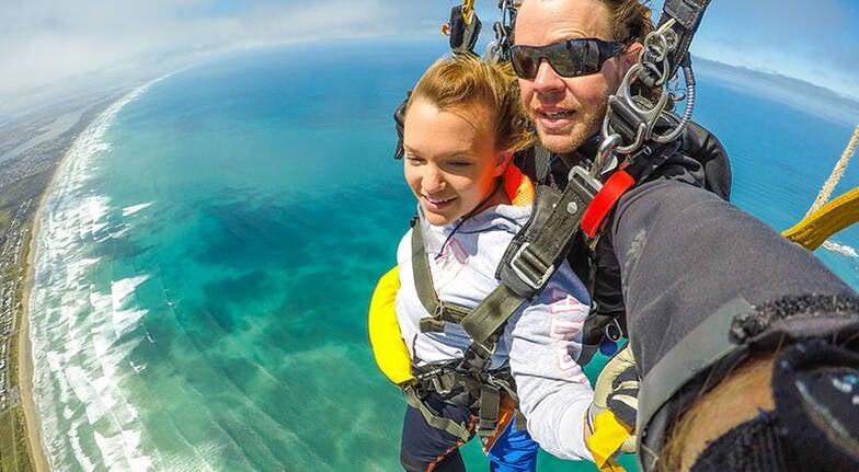 Tandem Skydive over Basham Beach  9000ft