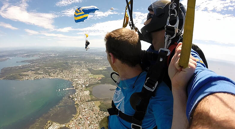 Tandem Skydive Over Newcastle  Up To 15000ft