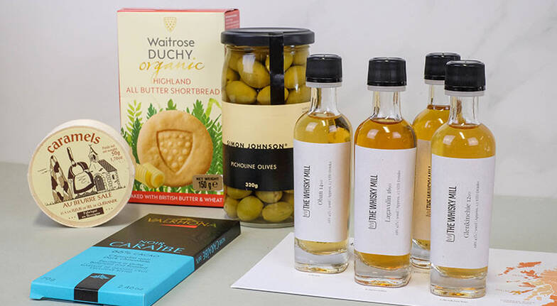 Virtual Whisky Tasting with Whisky Pack and Food Hamper