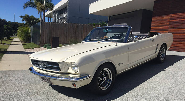 1966 Ford Mustang Convertible Full Day Car Hire  Gold Coast