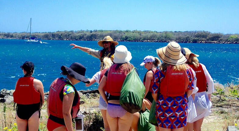 Kayaking and Snorkelling Tour Seaway Kayaking Tours group with tour instructor
