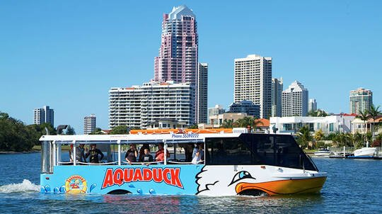 Aquaduck City Tour and Sunset Cruise with Drink - 1.5 Hours