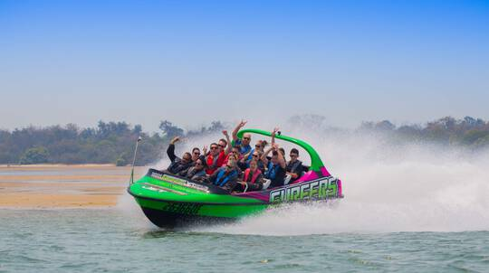Gold Coast V8 Jet Boat Ride - 60 Minutes