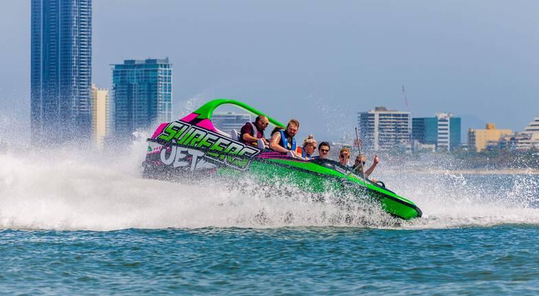 Gold Coast V8 Jet Boat Ride  60 Minutes