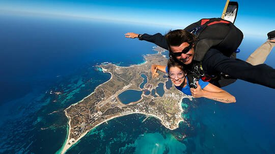 15,000ft Tandem Skydive Over Rottnest Island with Ferry Pass