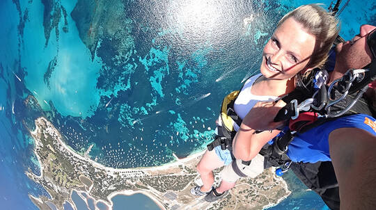 10,000ft Tandem Skydive Over Rottnest Island with Ferry Pass