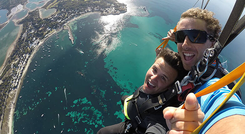 10000ft Tandem Skydive Over Rottnest Island with Ferry Pass