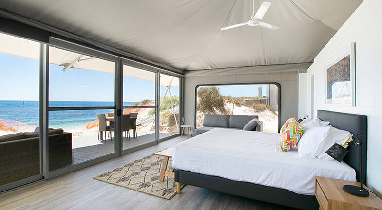 1 Night Rottnest Island Family Glamping Stay  For 4