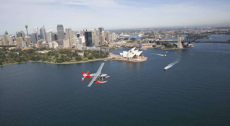 Sydney Harbour Seaplane Flight with Pints and Prawns - For 2