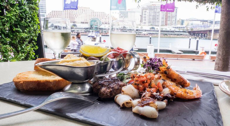 VIVID Progressive Dining 3 Course Dinner with Drinks - For 2