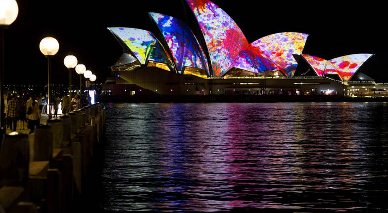 Vivid Lights Tall Ship Dinner Cruise with Drinks - Weekend