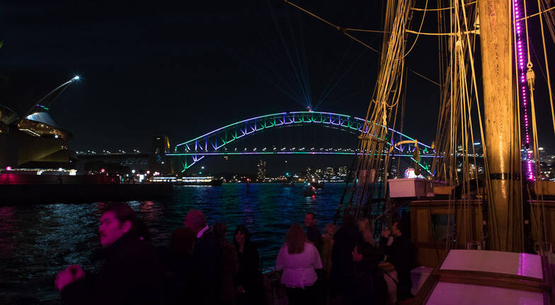 Vivid Sydney Tall Ship Dinner Cruise with Drinks - Weekday