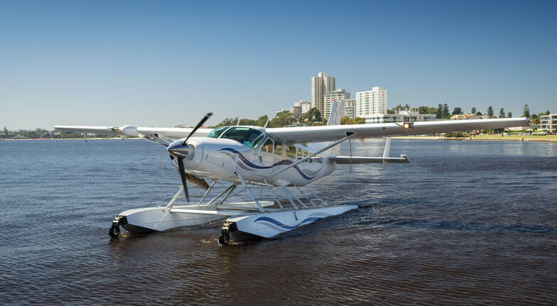 Swan River Seaplanes seaplane in water perth city