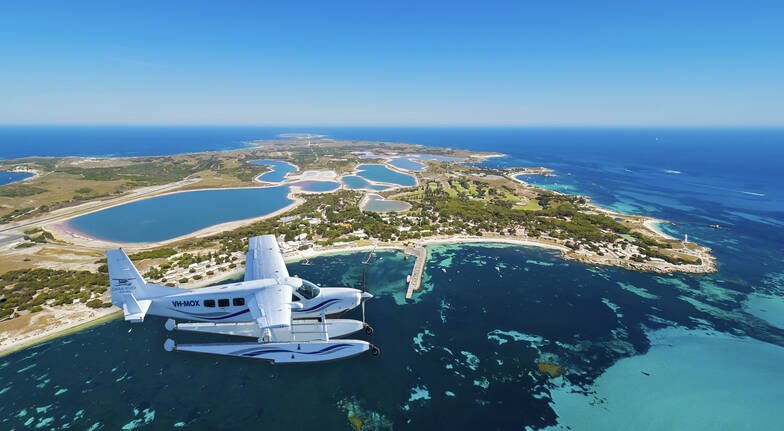 One Way Scenic Flight from Swan River to Rottnest Island