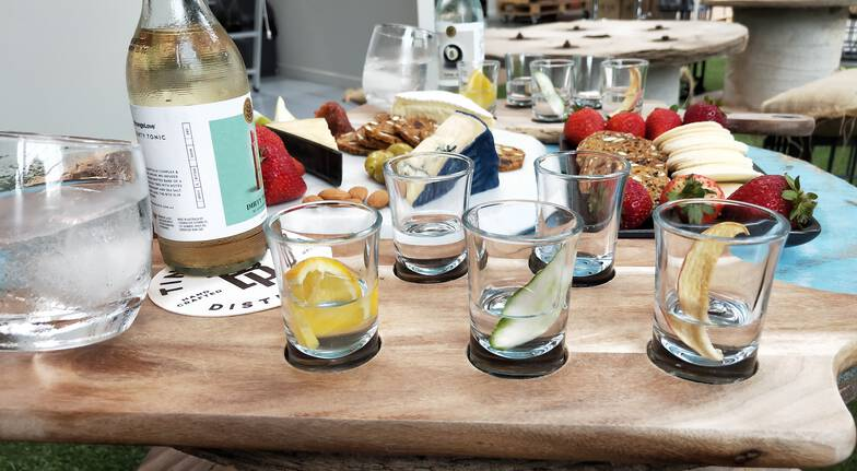 Gin Distillery Tour with Tasting Paddle and Cheese - For 2