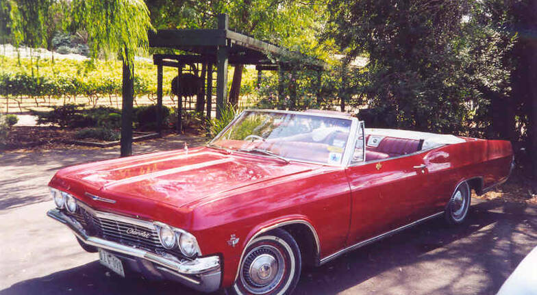 Winery Tour in a Chevrolet Convertible - With Lunch - For 4