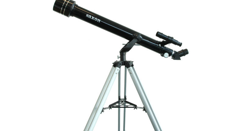 Refractor Telescope with Tripod and Three Eyepieces