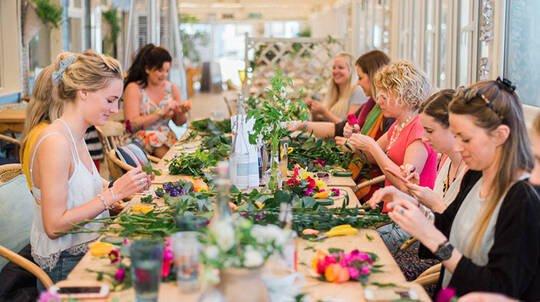 2 Hour Fresh Flower Crown Workshop - For 10