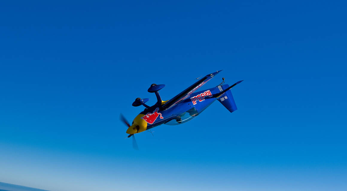 red bull aerobatic plane upside down in sydney