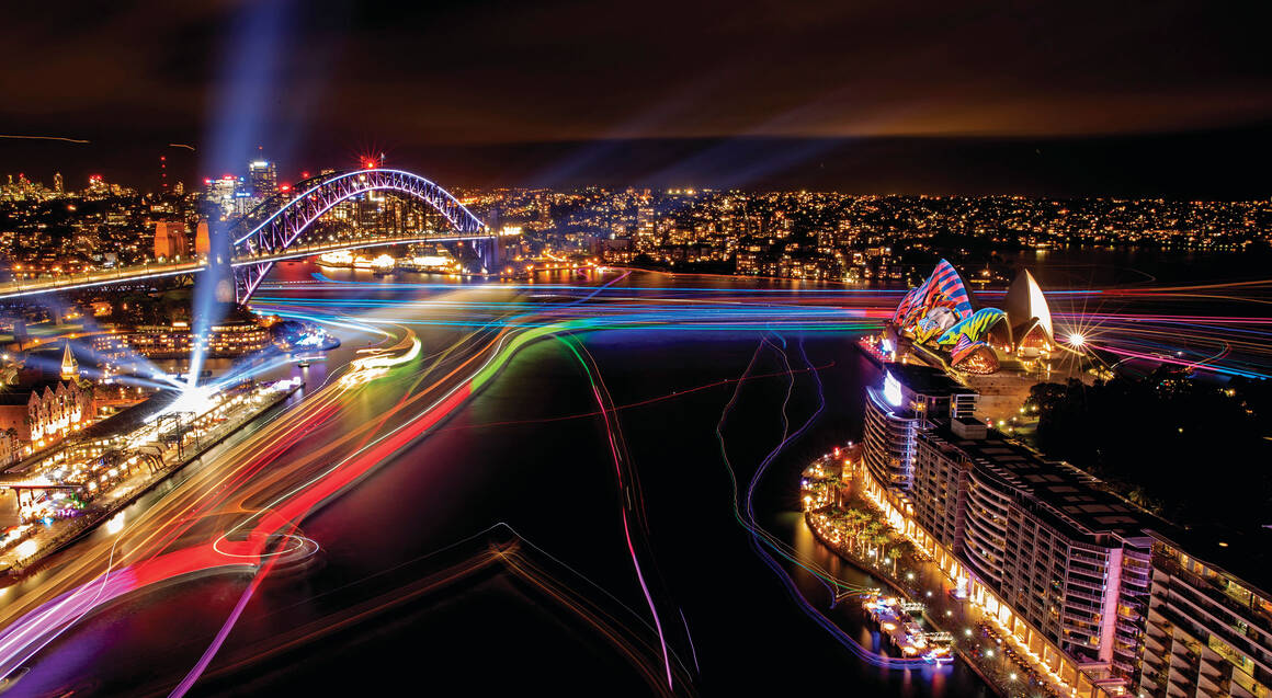 Vivid harbour Cruise with Aboriginal Cultural Performance