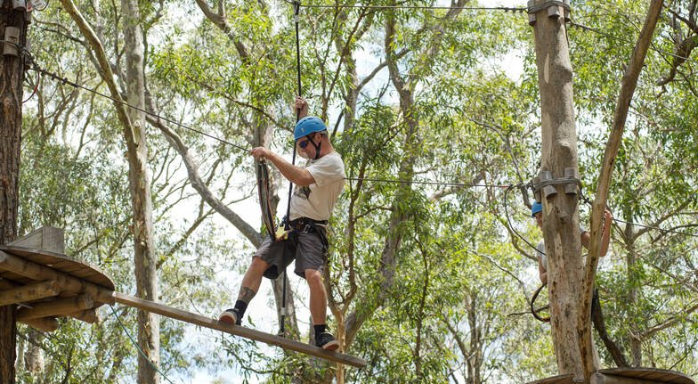 High Ropes Climbing Course with Flying Foxes - The Hills