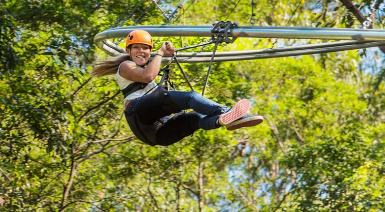 Tree Top Roller Coaster Zip Line Experience - For 2