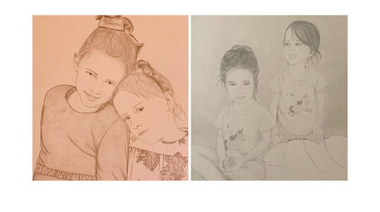 Personalised Hand Drawn Portrait - A1