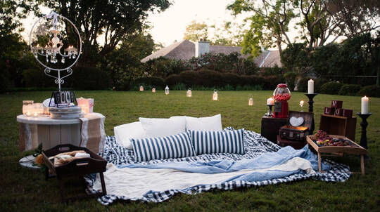 Proposal Package: Private Outdoor Cinema with Gourmet Hamper
