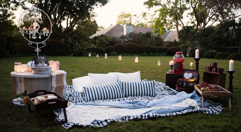 Private Outdoor Cinema Proposal Package with Hamper