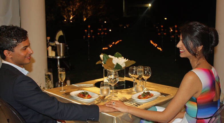 Proposal: Candle-lit Dinner with Harpist - Gold Coast