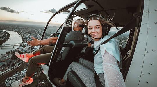 Brisbane City Doors Off Helicopter Flight - For 3