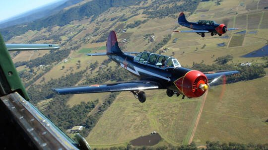 Warbird Adventure Flight Over the Hunter Valley