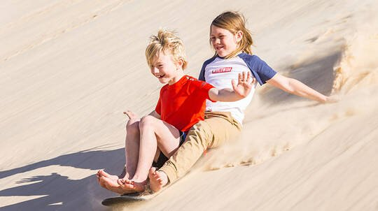 Unlimited Sandboarding at Port Stephens