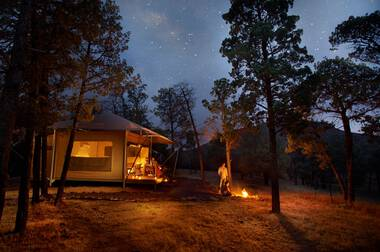 Glamping tent in the Flinders Ranges