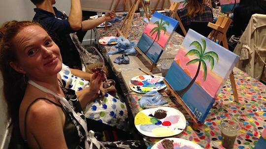 Paint and Sip Class with Drink - 90 Minutes
