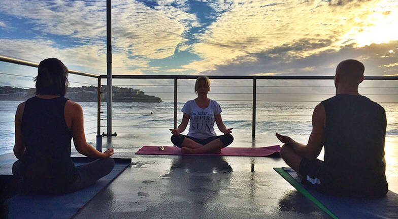 Private Yoga by the Sea Session in Manly Cove