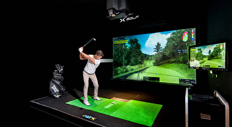 Virtual Indoor Golf Lesson with a PGA Pro and 18 Holes