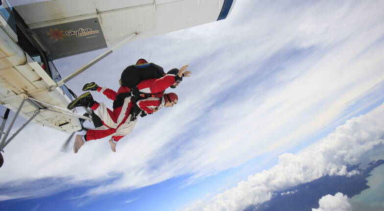 Tandem Skydive Over Abel Tasman - 16,500ft